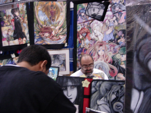 ... bottle-glasses running anime art booth that was mostly hentai stuff…