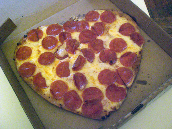 heart shaped pizza papa johns
